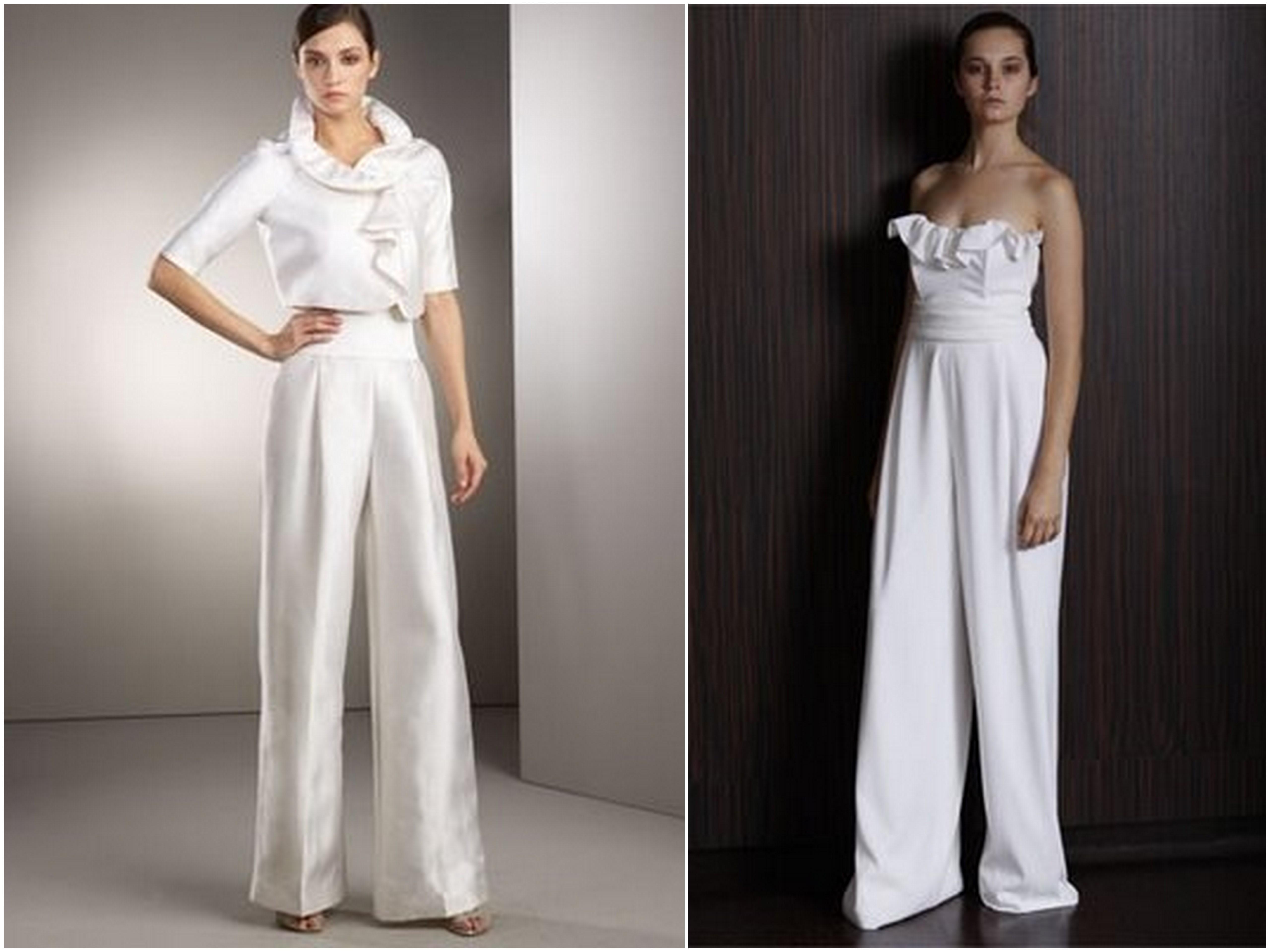 Bridal Pant Suits Niche White Bridal Loft