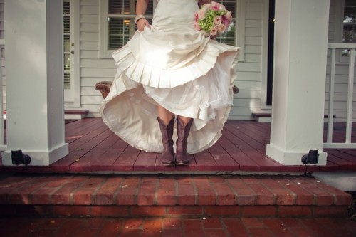 photo by souder photography featured on elizabeth anne designs i love the contrast of the boot with the ruffled hem dress classic