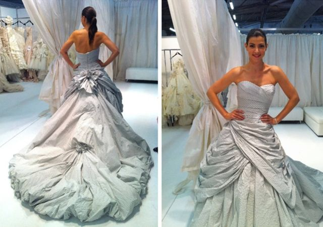 dress by ian stuart as seen at bridal market pic by southern weddings